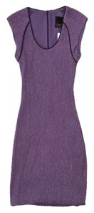 Yigal Azrouël short dress Purple Gathered Bodycon on Tradesy