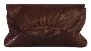 Lauren Merkin Brown Leather Clutch