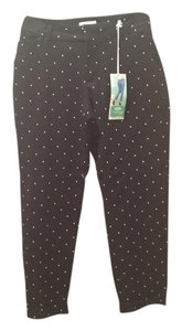 OId NAVY Capris Black with white polka-dot