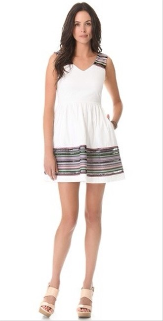 Shoshanna short dress White/Multi on Tradesy