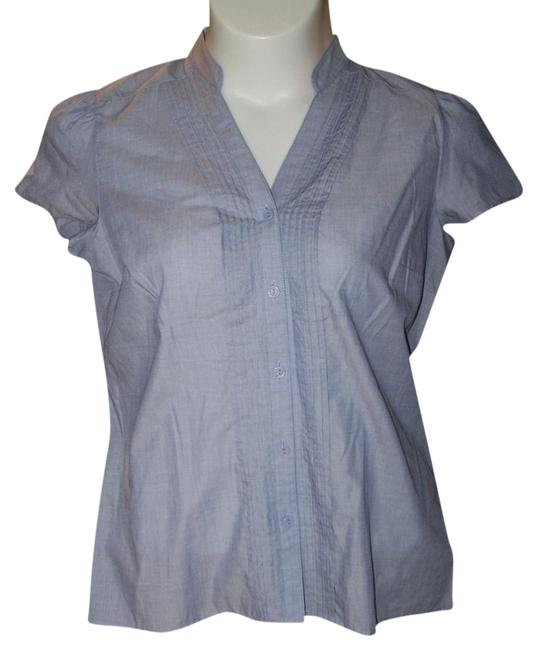 East 5th Essentials Large Short Sleeve Button Down Shirt Blue