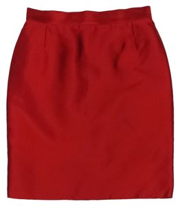Dolce&Gabbana Red Silk Skirt
