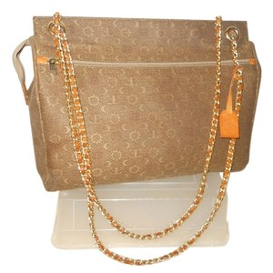El Portal Leather Canvas Tote in brown & tan