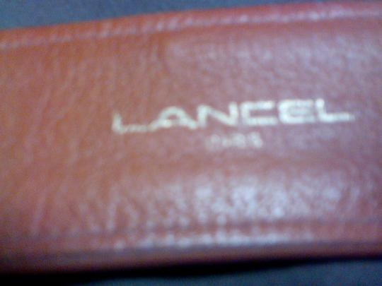 Lancel Lancel contoured leather belt