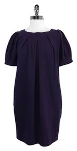 Theory short dress Purple Wool Short Sleeve on Tradesy
