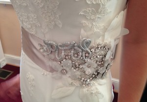 Handmade Sash With Crystals And Beautiful Details