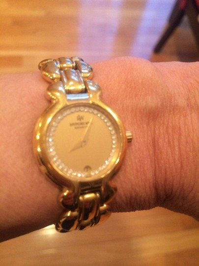 Raymond Weil 18K Electroplated gold watch with Diamond. Date