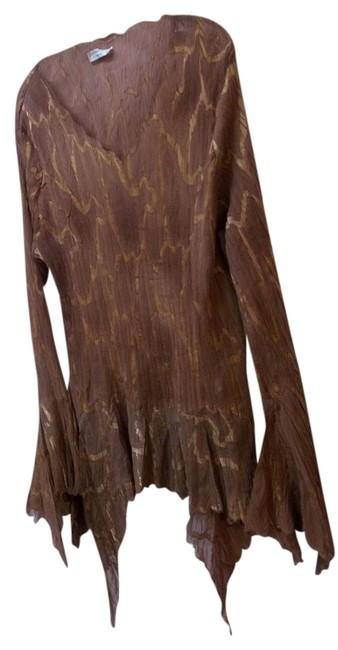 Preload https://item4.tradesy.com/images/dress-u-by-sharon-copper-bronze-shibori-lagenlook-boutique-tunic-size-16-xl-plus-0x-782633-0-0.jpg?width=400&height=650