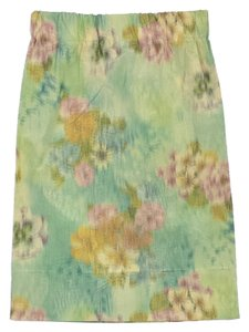 Marni Multi Color Floral Print Skirt