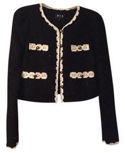 213 by Michelle Kim Black/ivory trim Blazer