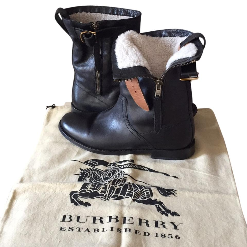 Burberry Accents Black with Tan Accents Burberry Special Edition Grantville Boots/Booties 2269c5
