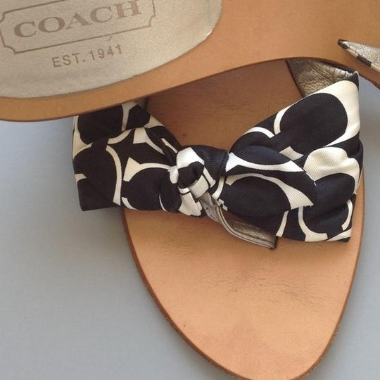 Coach Black and White Sandals Image 3