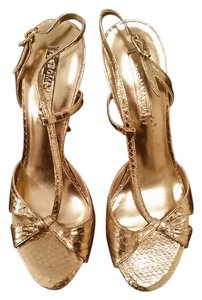 BCBGMAXAZRIA Bcbg Strappy Wedding Gold Pumps