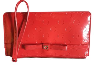 Kate Spade Patent Wristlet in Red