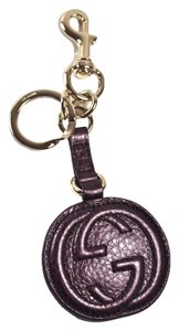 Gucci NEW SOHO KEY CHAIN/BAG CHARM - BURGUNDY