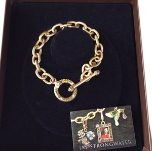 Jay Strongwater 7.5 Inch Toggle Charm Bracelet