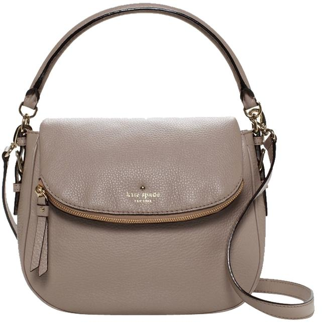 Item - Cobble Hill Small Devin Warm Putty Leather Shoulder Bag