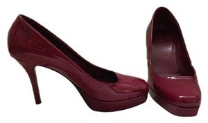 Gucci Platform Patent Leather Red Fall Burgandy Pumps