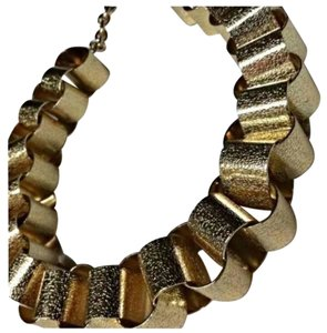 Other RARE GOLD TONE CURB TUBE CHAIN LINK NECKLACE