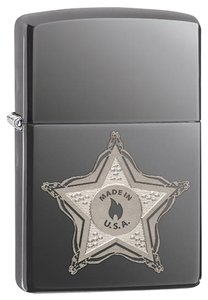 Zippo Zippo Lighter Silver Skull Badge 28360