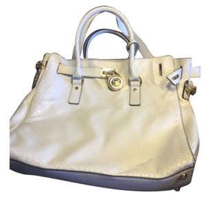 Michael Kors Satchel in White Python