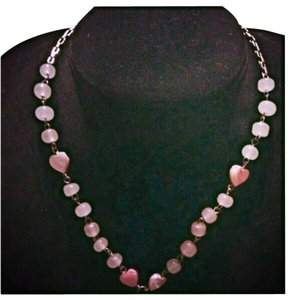 Other Gorgeous Pink Quartz Necklace
