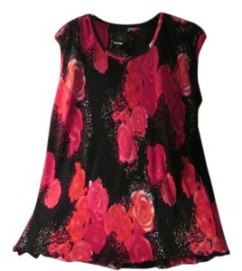 JTB Top Black red roses