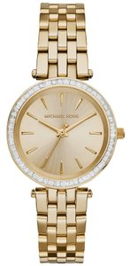 Michael Kors Michael Kors Women's Mini Darci Gold-Tone Stainless Steel Bracelet Watch 33mm MK3365