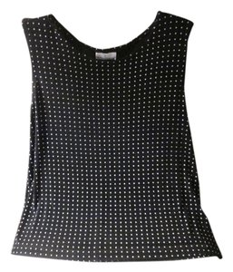 The Travel collection Top Black white dots
