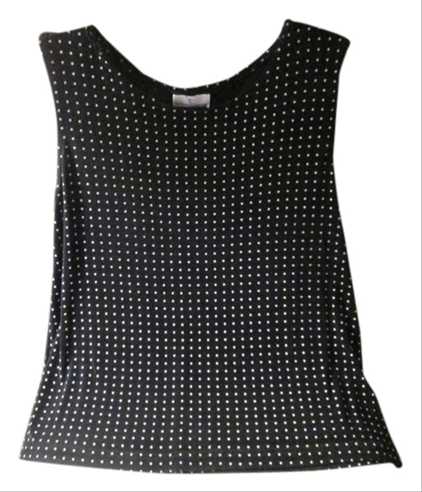 db03048d3f766 Black White Dots New Without Tags with Sleeveless Blouse. Size  20 (Plus 1x)