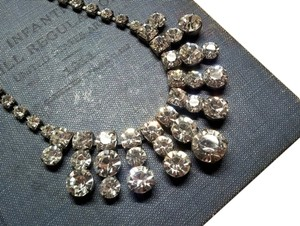 Other Vintage Crystal Art Deco Rhinestone Statement Bridal Necklace