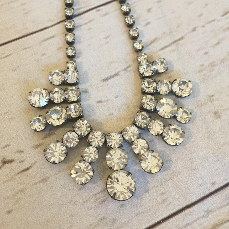 Clear Vintage Crystal Art Deco Rhinestone Statement Necklace Image 0 ...