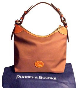 Dooney & Bourke Nylon Leather Trim Shoulder Bag