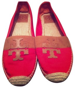 Tory Burch Red & Brown Flats