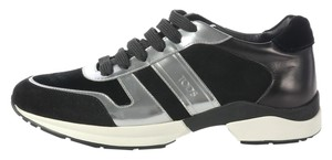 Tod's Sneakers Black Silver Athletic