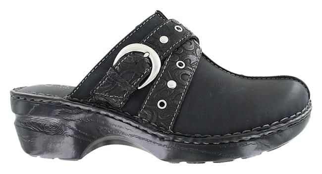 Item - Black Leather Chunky Sexy Comfy Style Sale Large Extra Slip On Trend Coach Feet Boot High End Lux Rare Summer Mules/Slides Size US 11