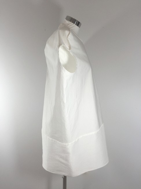 Rick Owens short dress White Tunic Belted Poplin Cotton on Tradesy