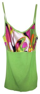 Emilio Pucci Sweater Sweaterset Designer Cardigan Silk Cotton Italian Top Lime Green And Multi