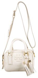 Tory Burch White Leather Print Shoulder Bag