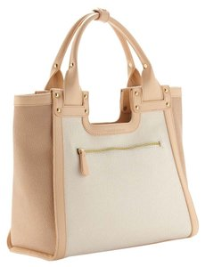 Charles Jourdan Leather Tote in Beige