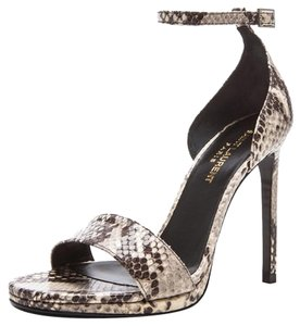 Saint Laurent Ysl Front Strap python Sandals