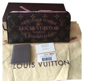 Louis Vuitton Ikat Rose Velour Insolite Wallet