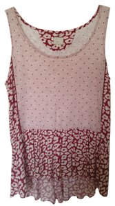 Anthropologie Comfy Casual Peplum Top Pink