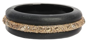 Alexis Bittar Wide Gray Crystal Bangle