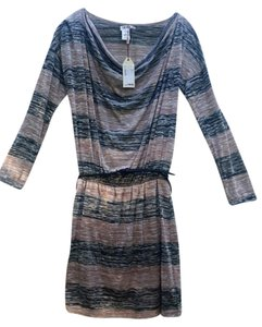 Max Studio short dress A mixture of black, grey, and tan stripes on Tradesy