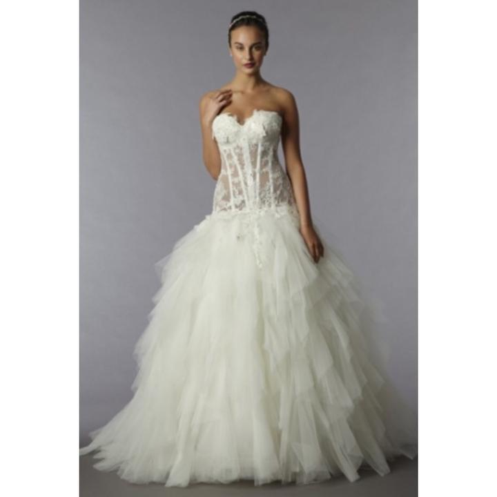 spesso Pnina Tornai Off White 4190 Sexy Wedding Dress Size 4 (S) - Tradesy GY01