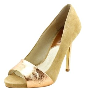Michael Kors Peep Toe Sexy Style Suede Nude Pumps