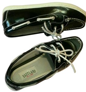 Eastland Patent Designer Boat Leather black Flats