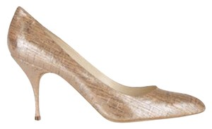 Brian Atwood Wedding Weeding Bridal Metallic, Peach, Cork, Rose, Silver Pumps