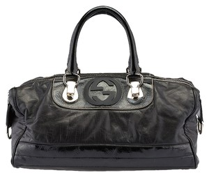Gucci Snow Glam Satchel in Black